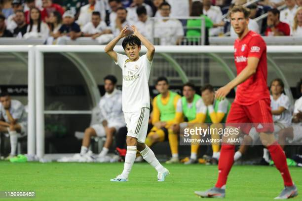 Takefusa Kubo of Real Madrid during the 2019 International Champions Cup match between FC Bayern Munich and Real Madrid at NRG Stadium on July 20,...