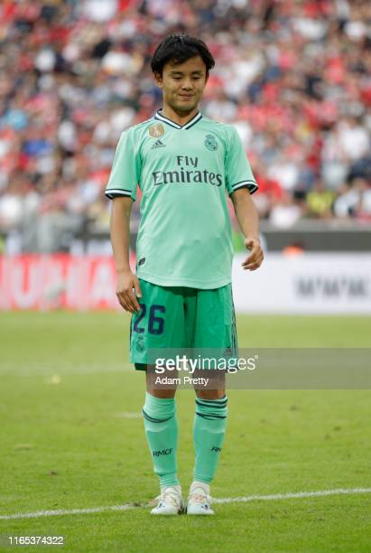 Takefusa Kubo of Real Madrid during the Audi cup 2019 3rd place match between Real Madrid and Fenerbahce at Allianz Arena on July 31 2019 in Munich...