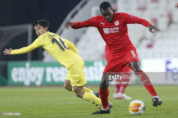 Takefusa Kubo of Villareal in action during UEFA Europa League Group I match between Demir Grup Sivasspor and Villarreal at the 4 Eylul Stadium in...