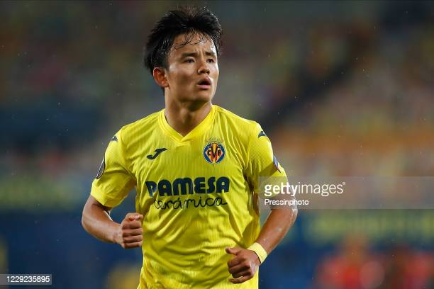 Takefusa Kubo of Villarreal CF during the UEFA Europa League match, Group I, date 1, between Villarreal CF and Sivasspor played at La Cerámica...
