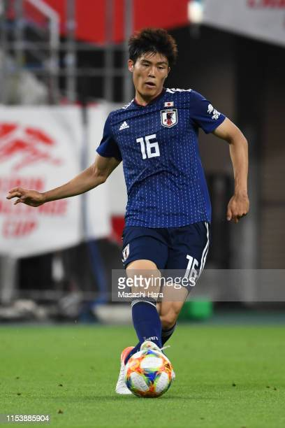 Takehiro Tomiyasu of Japan in action during the international friendly match between Japan and Trinidad and Tobago at Toyota Stadium on June 05 2019...