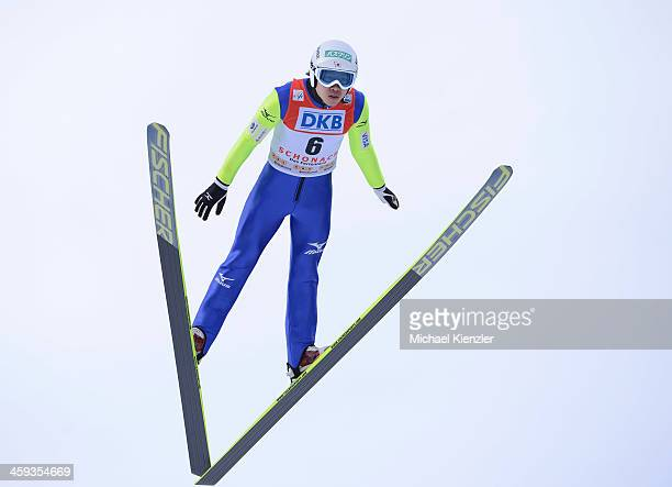 Takehiro Watanabe of Japan competes during the FIS Nordic Combined Ski Jumping competition of the FIS Nordic Skiing World Cup in Schonach Germany on...