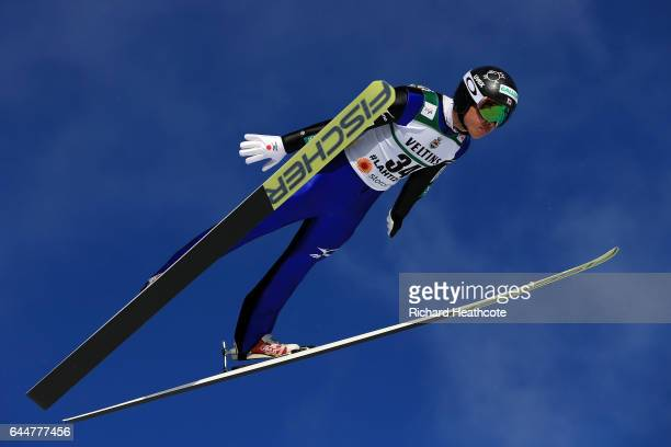 Takehiro Watanabe of Japan competes in the Men's Nordic Combined HS100 during the FIS Nordic World Ski Championships on February 24 2017 in Lahti...