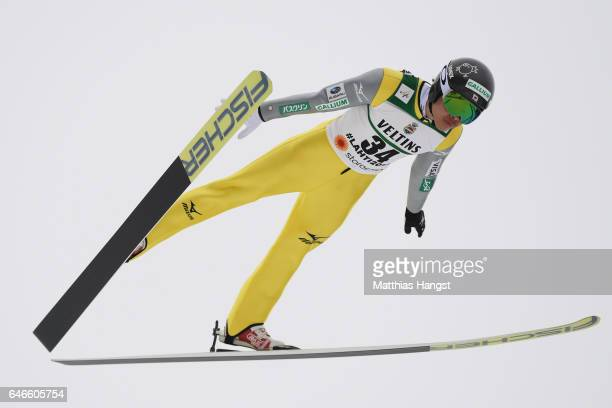 Takehiro Watanabe of Japan competes in the Men's Nordic Combined HS130 during the FIS Nordic World Ski Championships on March 1 2017 in Lahti Finland