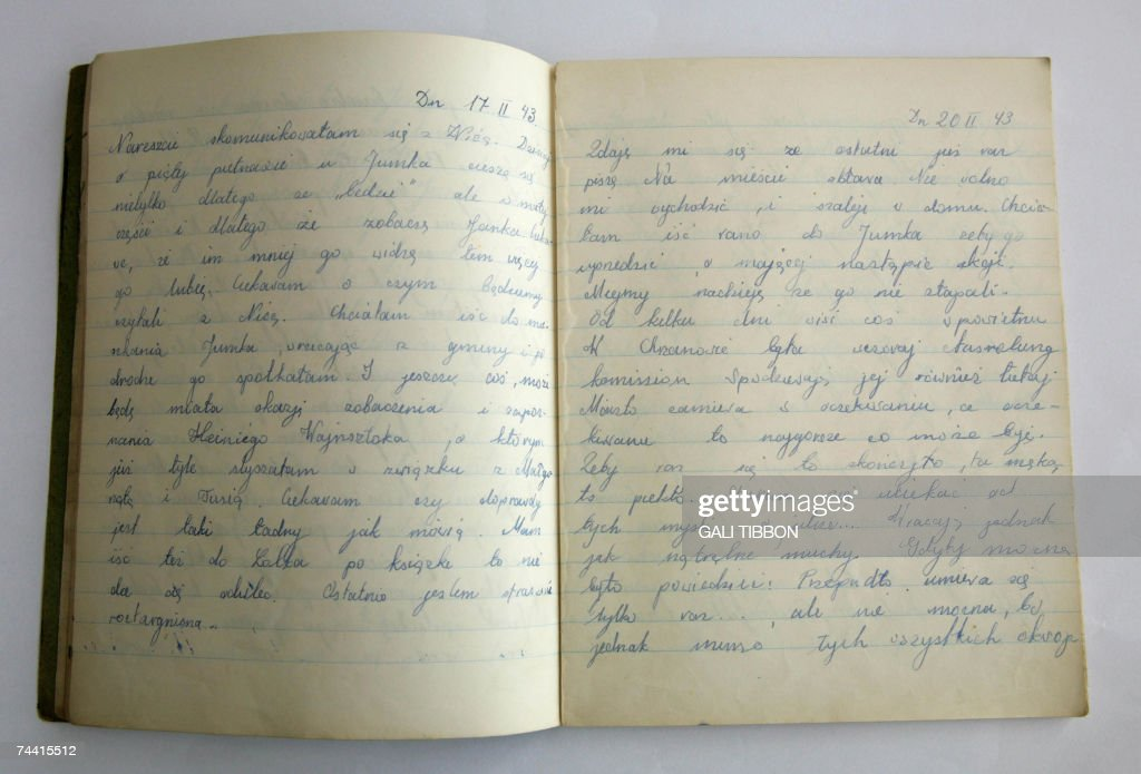 Taken 06 June 2007, The diary of Rutka L... : News Photo