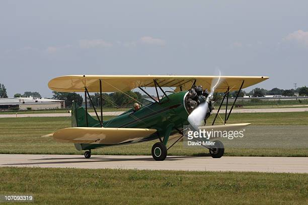 Taken at AirVenture 2008 Oshkosh Wisconsin Wittman Regional Airport Waco taxiing for taking off