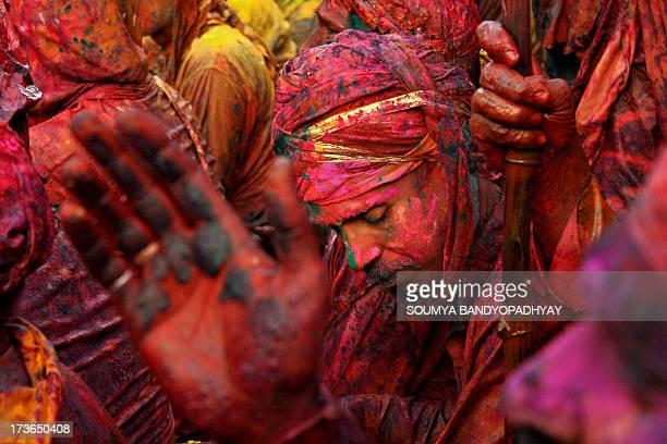 CONTENT] taken at nandgaon holi festival near mathura local people celebrating holi festival it's festival of colors when during holi festival where...