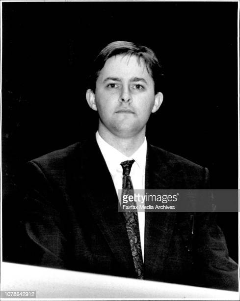 Taken at the ALP State Conference at The Town HallAnthony Albanese Assistant General Secretary June 11 1990