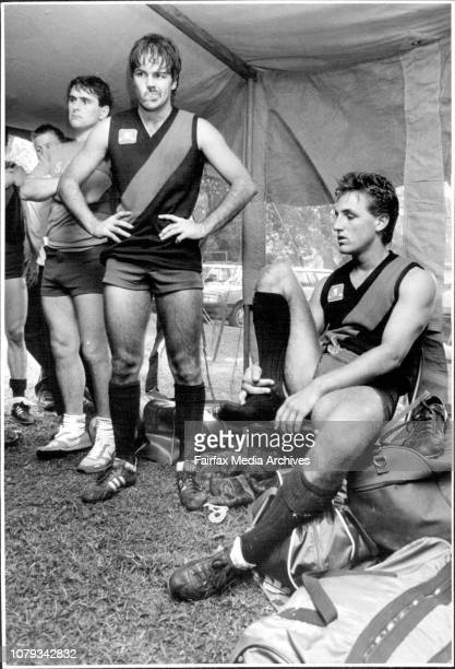Taken at the Gore Hill Oval shots are to show the lack of facilities at most Sydney Football GroundsNorth Shore players in their tent which serves as...