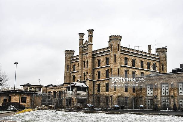 "Taken at the Joliet Correction Center ""Joliet Prison"" on a winters' day in Joliet, Illinois. Prison was open from 1858-2002, site of numerous TV..."