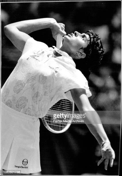 Taken at White City Women's Singles FinalGabriela Sabatini V Arantxa Sanchez Vicario January 12 1992