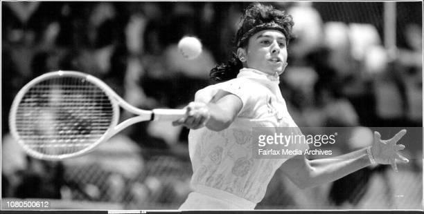 Taken at White CityWomen's Singles FinalGabriela Sabatini V Arantxa Sanchez Vicario January 12 1992