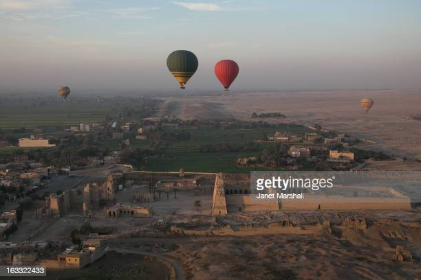 CONTENT] Taken from our Hod Hod Soliman balloon ride over Luxor in the Nile Valley Egypt Below are the ruins of the Ramesseum the funerary temple of...