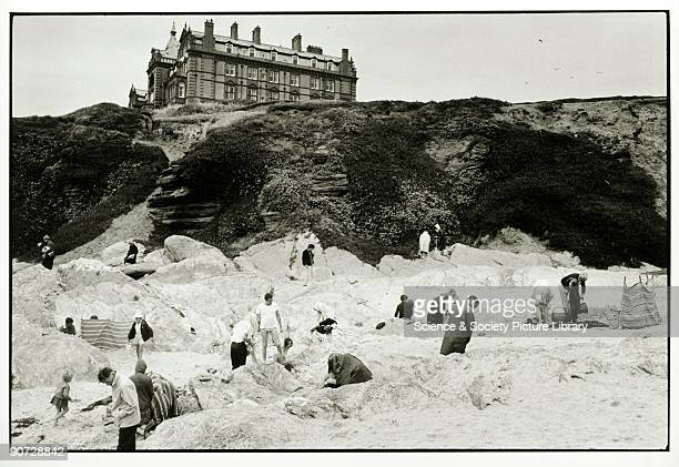 Taken on Fistral Beach below the Headland Hotel at Newquay Cornwall Photographer Tony RayJones created most of his images of the British at work and...