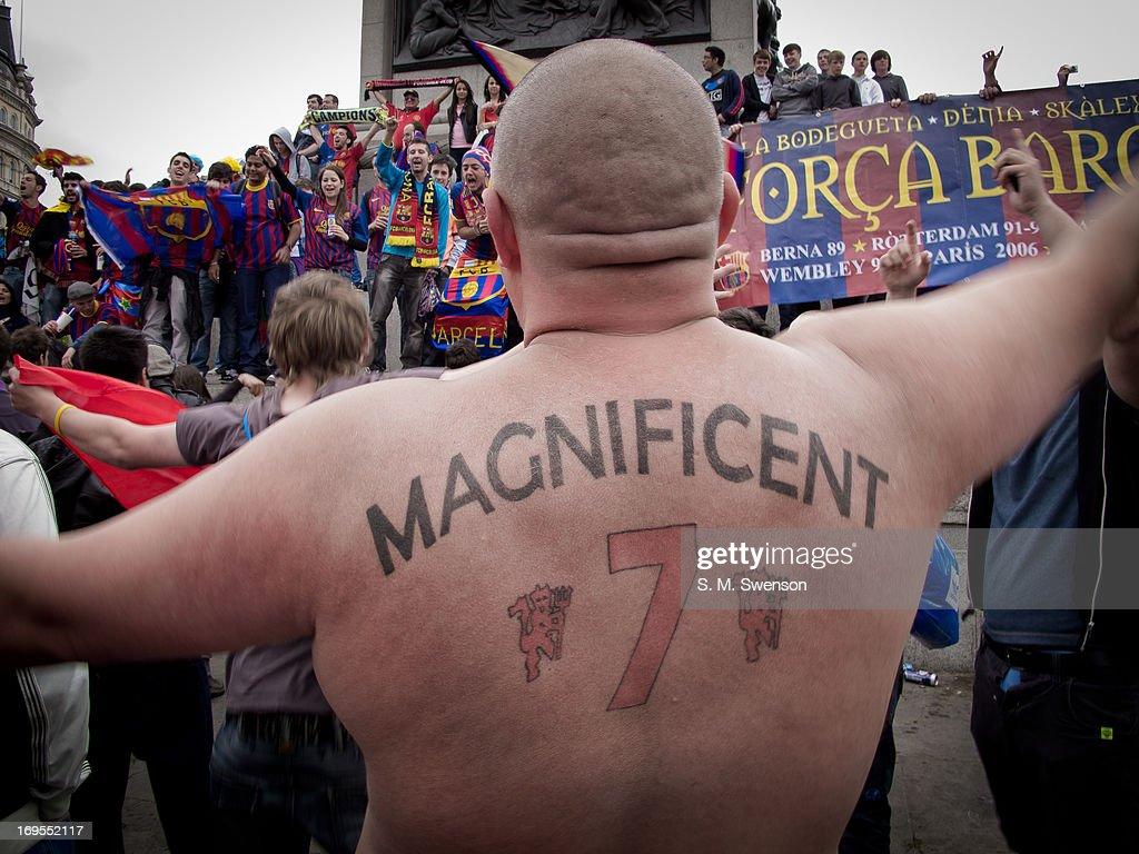 Champions League final- Barcelona v Manchester Utd : News Photo