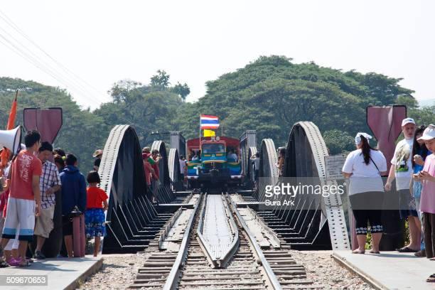 Taken the train over The Bridge on the River Kwai, Kanchanaburi, Thailand on 1/2/11.