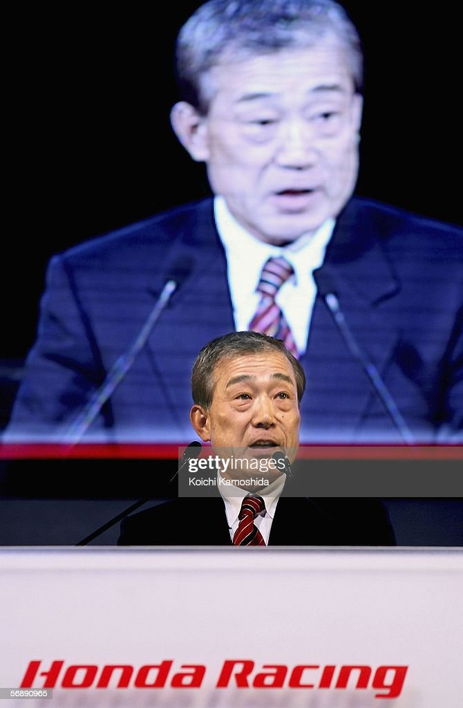 Honda 2006 motorsports highlights photos and images getty images takeo fukui honda motor co ltd president speaks during a press conference sciox Image collections