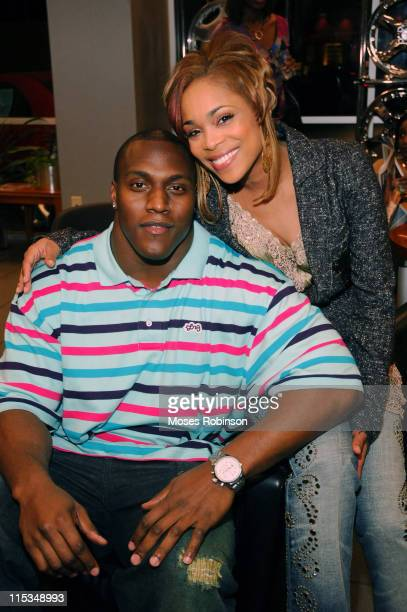 Takeo Spikes and Tionne T Boz Watkins of TLC during Paper City and Sickle Cell Foundation of Georgia Present the Traveling Chase's Closet Trunk Show...