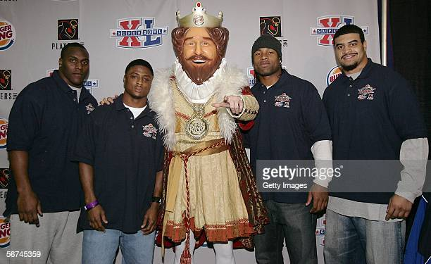 Takeo Spikes of the Buffalo Bills Warrick Dunn of the Atlanta Falcons The Burger King Akin Ayodele of the Jacksonville Jacguars and Shawne Merriman...