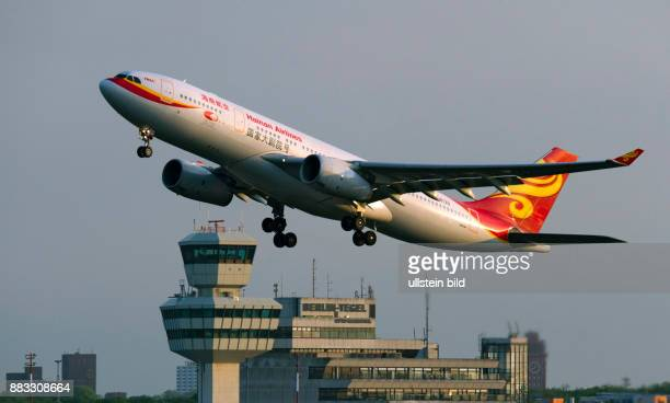 takeoff Airbus A330 of the airline Hainan Airlines at Tegel Airport