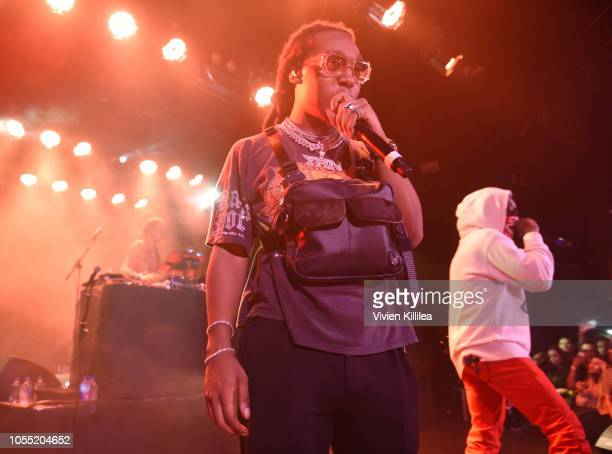 Takeoff and Offset of Migos perform at Migos Exclusive World Series Event at the Roxy on October 28 2018 in Los Angeles California