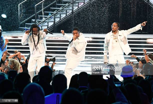 Takeoff of Migos Mustard and Quavo of Migos perform onstage at the 2019 BET Awards on June 23 2019 in Los Angeles California