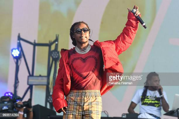 Takeoff of Migos perform on the Main Stage during Wireless Festival 2018 at Finsbury Park on July 7 2018 in London England