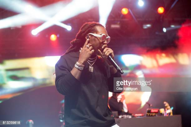 Takeoff of Migos performs a headline show on the Lotto Stage in the Parc de la Francophonie during Day 6 of the 50th Festival d'ete de Quebec on July...