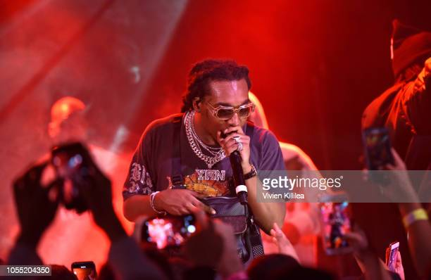 Takeoff of Migos performs at Migos Exclusive World Series Event at the Roxy on October 28 2018 in Los Angeles California