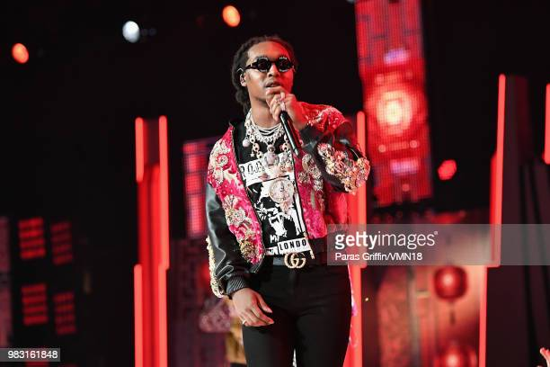 Takeoff of Migos performs onstage at the 2018 BET Awards at Microsoft Theater on June 24 2018 in Los Angeles California