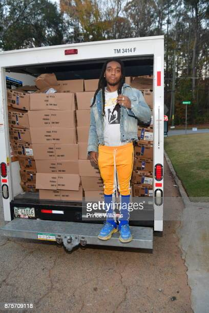 Takeoff Of The Group Migos attends The Migos Turkey Drive at 799 Hutchins Road on November 17 2017 in Atlanta Georgia