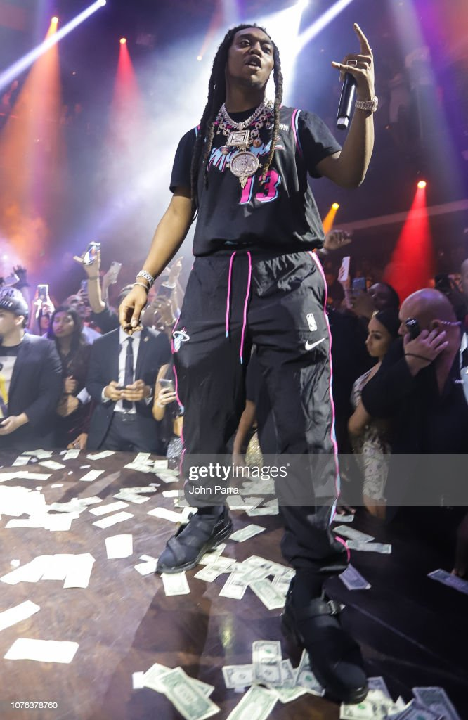Takeoff of the group Migos Celebrate New Year's Eve 2019 At