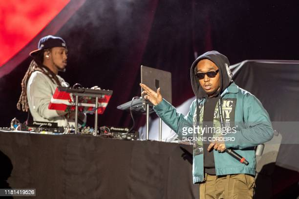 Takeoff of the group Migos performs during the Astroworld Festival at NRG Stadium on November 9 2019 in Houston Texas