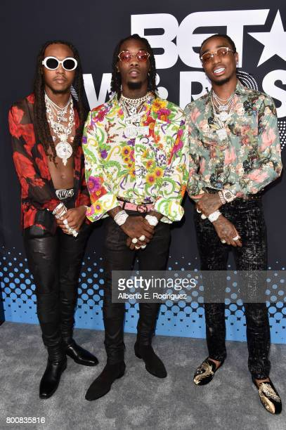Takeoff Offset and Quavo at the 2017 BET Awards at Microsoft Square on June 25 2017 in Los Angeles California