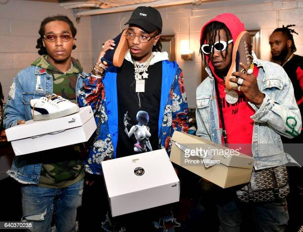 Takeoff Offset and Quavo of The Group Migos attend the Migos In Concert at Center Stage on January 28 2017 in Atlanta Georgia