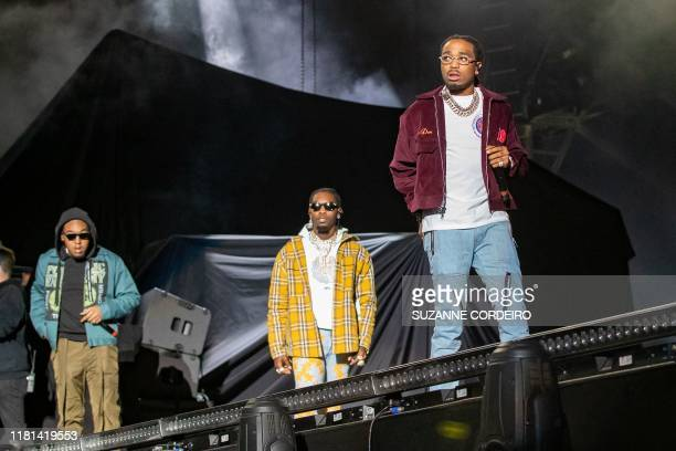 Takeoff Offset and Quavo of the group Migos perform during the Astroworld Festival at NRG Stadium on November 9 2019 in Houston Texas