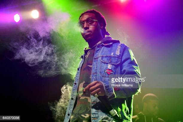 Takeoff performs at the Migos In Concert at Center Stage on January 28 2017 in Atlanta Georgia