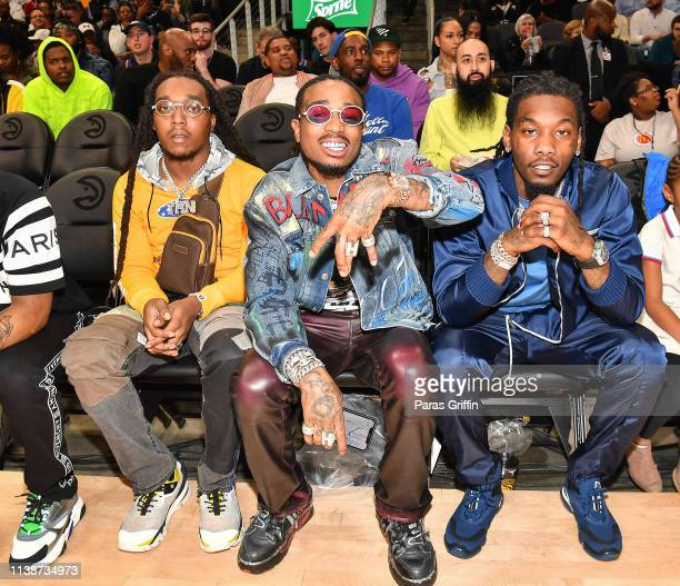 Takeoff, Quavo and Offset of Migos attend the 42nd Annual McDonald's All American Games at State Farm Arena on March 27, 2019 in Atlanta, Georgia.