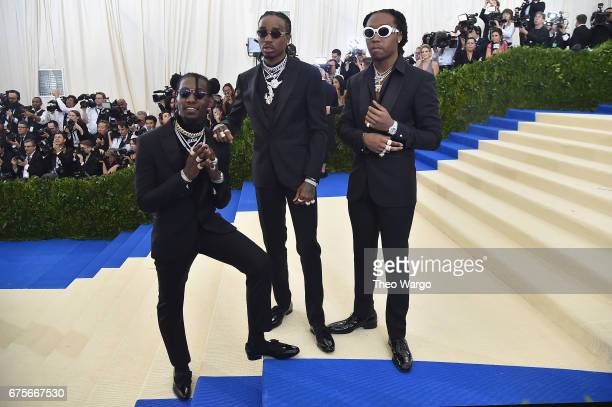 Takeoff Quavo and Offset of the group Migos attend the Rei Kawakubo/Comme des Garcons Art Of The InBetween Costume Institute Gala at Metropolitan...