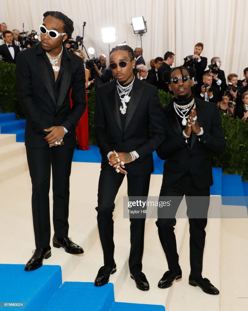 Takeoff Quavo And Offset Of The Group Migos Attends U0027Rei Kawakubo/Commes  Des Garcons