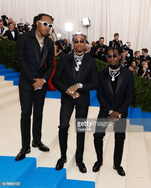 Takeoff Quavo and Offset of the group Migos attends 'Rei Kawakubo/Commes Des Garcons Art of the InBetween' the 2017 Costume Institute Benefit at...