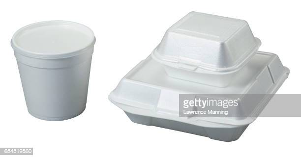 take-out containers - polystyrene stock pictures, royalty-free photos & images