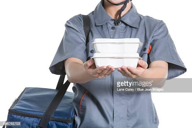 Take-out deliveryman