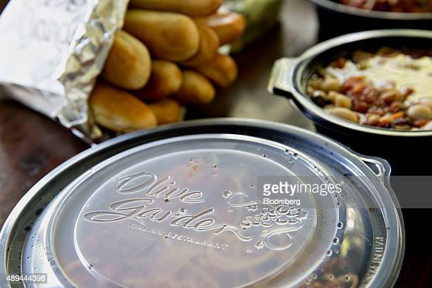 A takeout order from a Darden Restaurants Inc Olive Garden location is arranged for a photograph in Tiskilwa Illinois US on Tuesday Sept 1 2015...