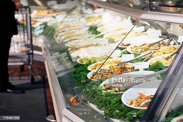 takeout store showcase - delicatessen stock pictures, royalty-free photos & images