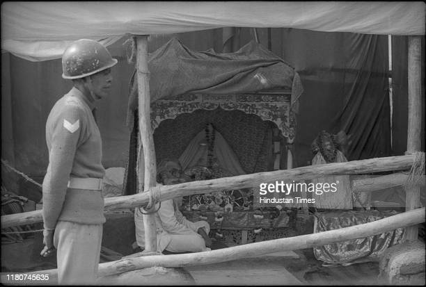 CRPF takes into control makeshift temple made of clothandbamboo enclosure that houses idol of Ram Lala Virajman erected at place of demolished Babri...