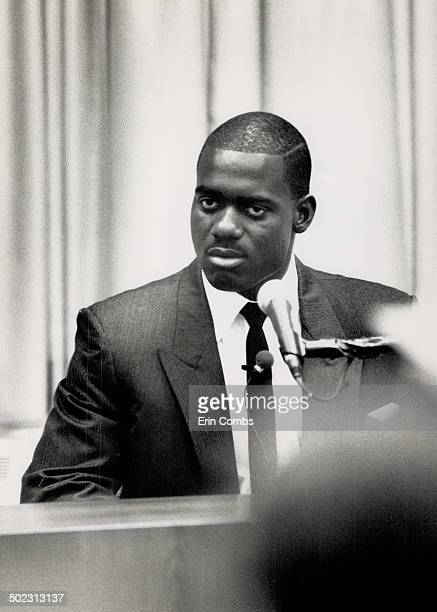 Takes oath Ben Johnson takes his seat at the Dubin inquiry into the use of steroids at the Seoul Olympics last year Johnson was stripped of his gold...