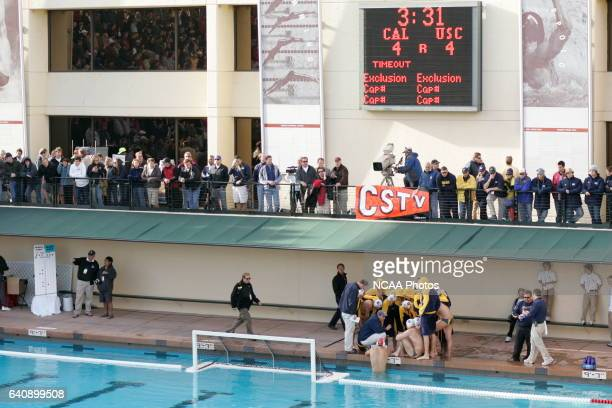 USC takes on the University of CaliforniaBerkeley during the Division I Men's Water Polo Championship held at the Avery Aquatic Center on the...