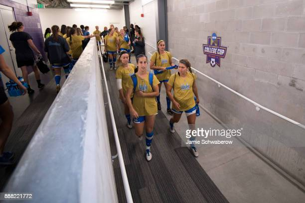 UCLA takes the field prior to the Division I Women's Soccer Championship held at Orlando City SC Stadium on December 3 2017 in Orlando Florida...