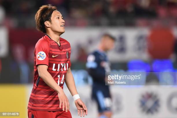 Takeshi Kanamori of Kashima Antlers looks on during the AFC Champions League Group H match between Kashima Antlers and Sydney FC at Kashima Soccer...